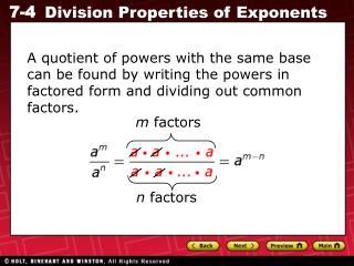 m  factors