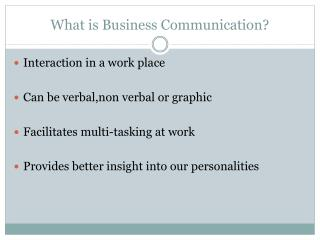What is Business Communication?
