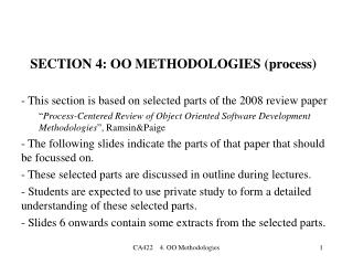 SECTION 4: OO METHODOLOGIES  (process)
