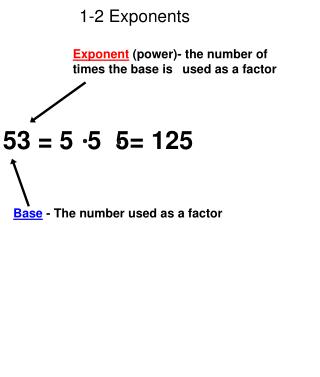 1-2 Exponents