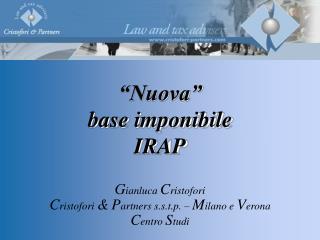 """""""Nuova"""" base imponibile IRAP"""