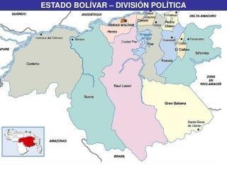 ESTADO BOLÍVAR – DIVISIÓN POLÍTICA