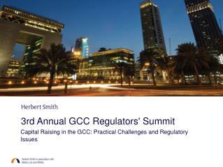 3rd Annual GCC Regulators' Summit