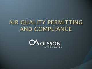 Air Quality Permitting and Compliance