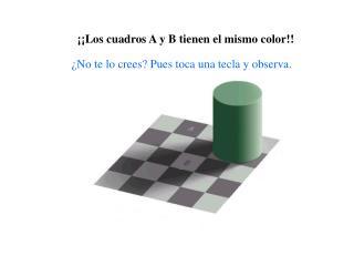 ¡¡Los cuadros A y B tienen el mismo color!!
