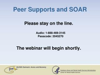 Peer Supports and SOAR