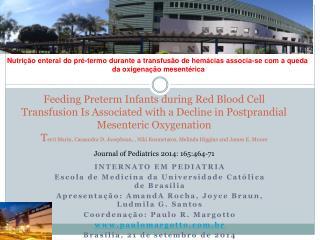 INTERNATO EM PEDIATRIA Escola de Medicina da Universidade Católica de Brasília