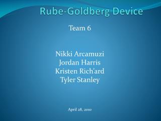 Rube-Goldberg Device