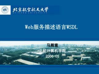 Web 服务描述语言 WSDL