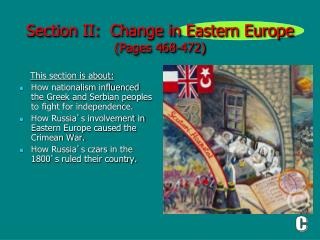 Section II:  Change in Eastern Europe (Pages 468-472)