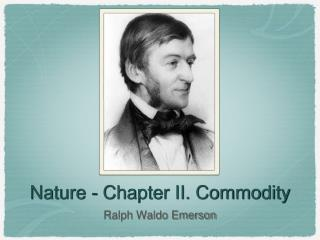 Nature - Chapter II. Commodity