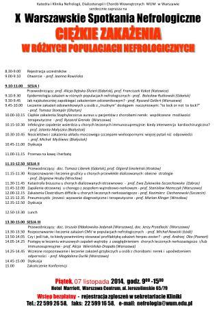 Katedra i Klinika Nefrologii, Dializoterapii i Chorób Wewnętrznych  WUM  w Warszawie