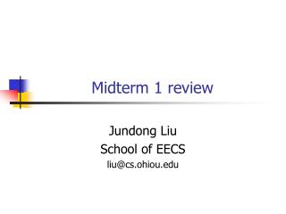 Midterm 1 review