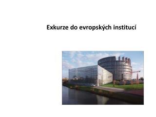 Exkurze do evropských institucí