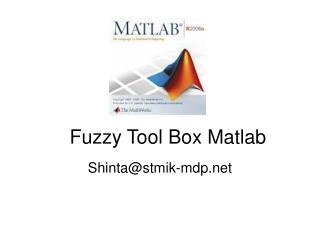 Fuzzy Tool Box Matlab
