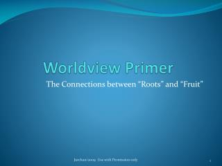 Worldview Primer