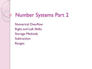Number  Systems Part 2