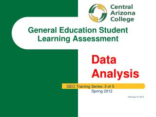 General Education Student Learning Assessment
