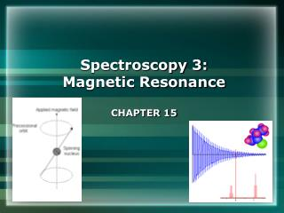 Spectroscopy 3: Magnetic Resonance CHAPTER 15