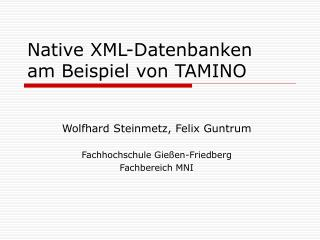 Native XML-Datenbanken  am Beispiel von TAMINO