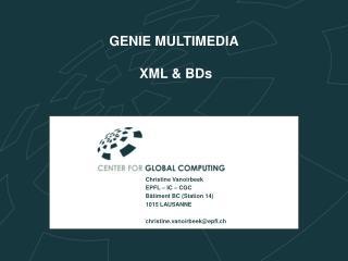 GENIE MULTIMEDIA  XML & BDs