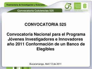 Bucaramanga, Abril 13 de 2011