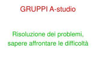 GRUPPI A-studio