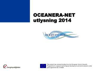 OCEANERA-NET utlysning 2014