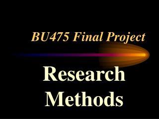 BU475 Final Project