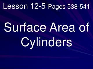 Lesson 12-5 Pages 538-541