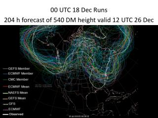 00 UTC 18 Dec Runs 204 h forecast of 540 DM height valid 12 UTC 26 Dec