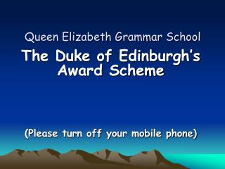 Queen Elizabeth Grammar School