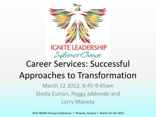 Career Services: Successful Approaches to Transformation
