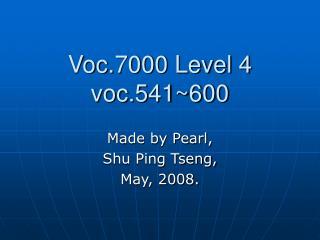 Voc.7000 Level 4 voc.541~600
