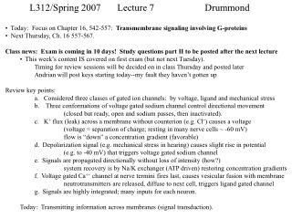 L312/Spring 2007	Lecture 7		Drummond