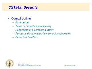 CS134a: Security