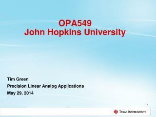 OPA549 John Hopkins University