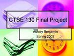 CTSE 130 Final Project