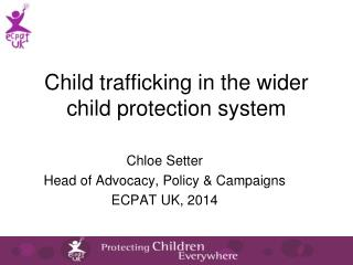 Child trafficking in the wider child protection system