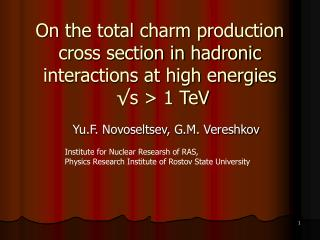 On the total charm production cross section in hadronic interactions at high energies   ?s > 1 TeV