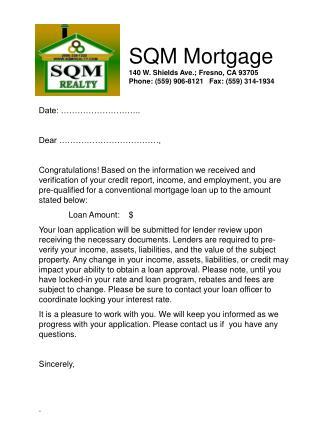 SQM Mortgage 140 W. Shields Ave.; Fresno, CA 93705 Phone: (559) 906-8121   Fax: (559) 314-1934