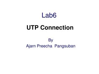 Lab6 UTP Connection