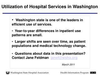 Washington State Hospital AssociationHealth Information Program