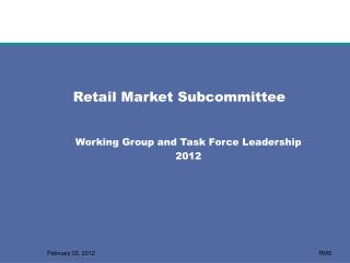 Retail Market Subcommittee