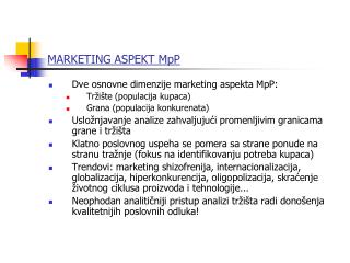 MARKETING ASPEKT MpP