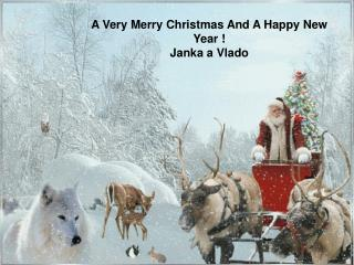 A Very Merry Christmas And A Happy New Year ! Janka a Vlado