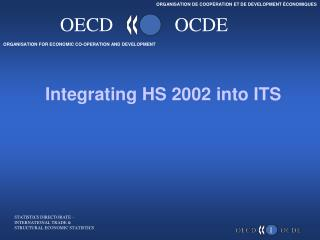 Integrating HS 2002 into ITS