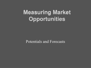 Measuring Market Opportunities