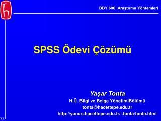 SPSS Ödevi Çözümü