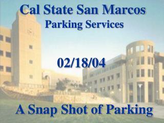 A Snap Shot of Parking